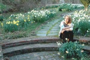 Grace Griffith in garden